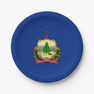 Patriottisch document bord met de vlag van Vermont