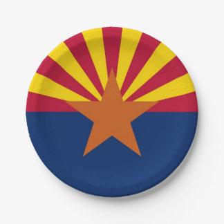 Patriottisch document bord met vlag van Arizona