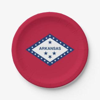 Patriottisch document bord met vlag van Arkansas