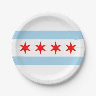 Patriottisch document bord met vlag van Chicago