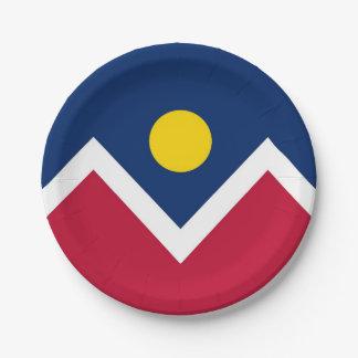 Patriottisch document bord met vlag van Denver