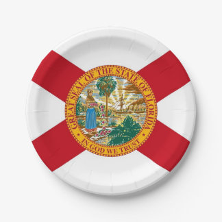 Patriottisch document bord met vlag van Florida