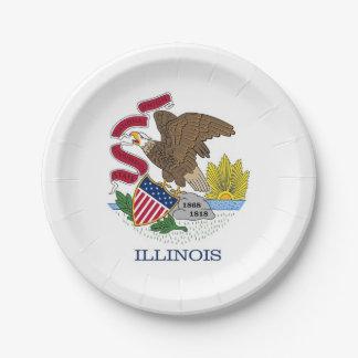 Patriottisch document bord met vlag van Illinois