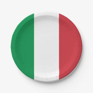 Patriottisch document bord met vlag van Italië