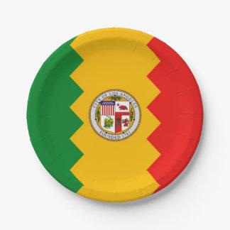 Patriottisch document bord met vlag van Los