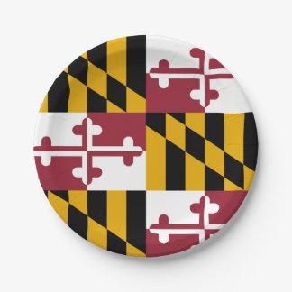 Patriottisch document bord met vlag van Maryland