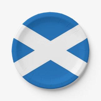 Patriottisch document bord met vlag van Schotland