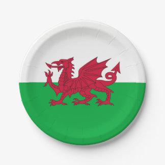 Patriottisch document bord met vlag van Wales
