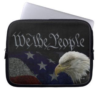 Patriottisch Eagle & Vlag Computer Sleeve