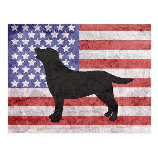 Patriottisch Labrador schetst vierde van het Briefkaart
