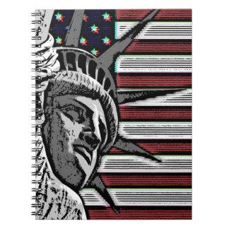 Patriottisch Standbeeld van Vrijheid Ringband Notitieboek