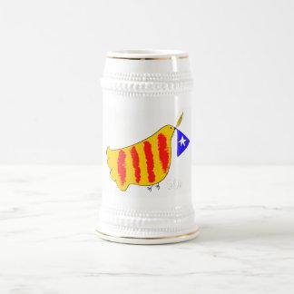 Patriottisch Symbool, de vrijheidsduif Catalunya Bierpul