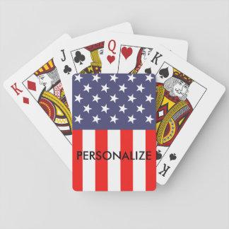 Patriottische Amerikaanse de pookspeelkaarten van Pokerkaarten