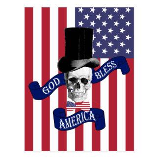 Patriottische Amerikaanse vlag Briefkaart