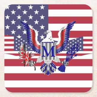 Patriottische Amerikaanse vlag Vierkante Onderzetter