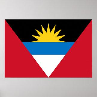 Patriottische Antigua en de Vlag van Barbuda Poster