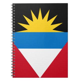 Patriottische Antigua en de Vlag van Barbuda Ringband Notitieboek