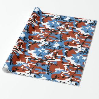 Patriottische Camo Inpakpapier