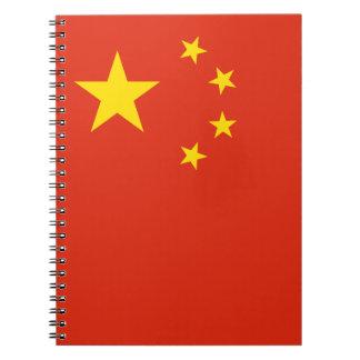 Patriottische Chinese Vlag Ringband Notitieboek