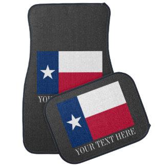 Patriottische die Texan de vlagautomat van de Auto Vloermat