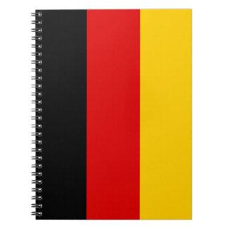 Patriottische Duitse Vlag Ringband Notitieboek