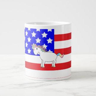 Patriottische eenhoorn grote koffiekop