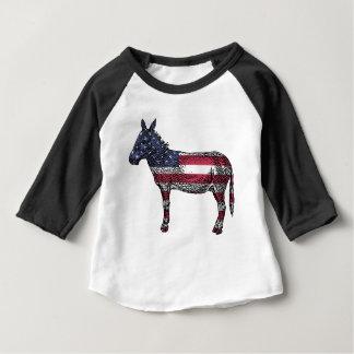 Patriottische Ezel Baby T Shirts