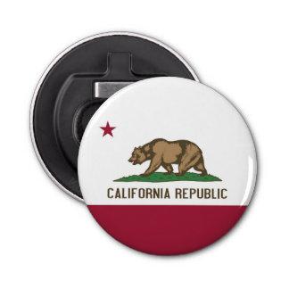 Patriottische flesopener met Vlag van Californië Button Flesopener