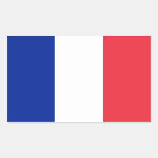 Patriottische Franse Vlag Rechthoekige Sticker