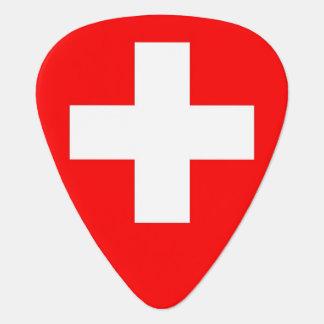 Patriottische gitaaroogst met Vlag van Zwitserland Plectrum