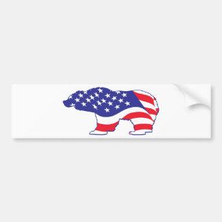 Patriottische Grizzly Bumpersticker