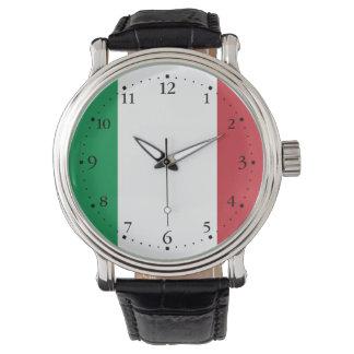Patriottische Italiaanse Vlag Horloge