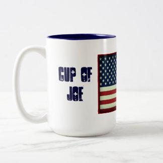 Patriottische Kop van Joe Beverage Mug Tweekleurige Koffiemok