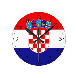 Patriottische Kroatische Vlag Ronde Klok