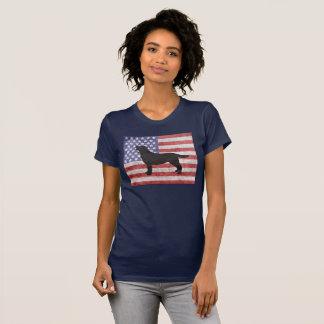 Patriottische Labrador vierde van de T-shirt van