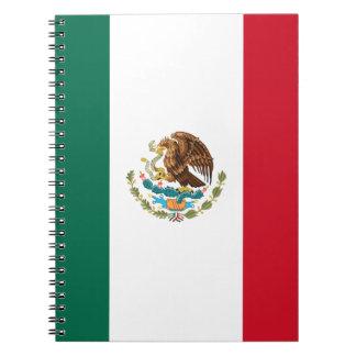 Patriottische Mexicaanse Vlag Ringband Notitieboek