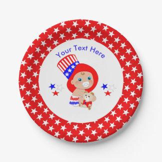 Patriottische Oom Sam American Baby Personalized Papieren Bordje