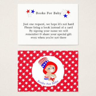 Patriottische Oom Sam American Books For Baby Visitekaartjes