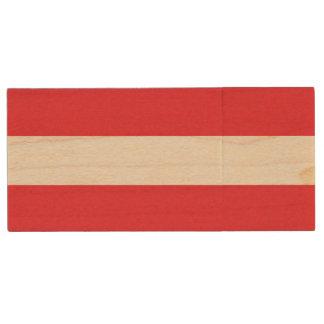 Patriottische Oostenrijkse Vlag Houten USB Stick
