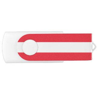 Patriottische Oostenrijkse Vlag USB Stick