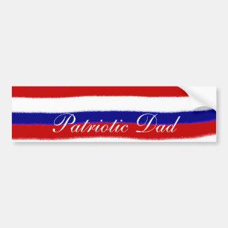 Patriottische Papa Bumpersticker