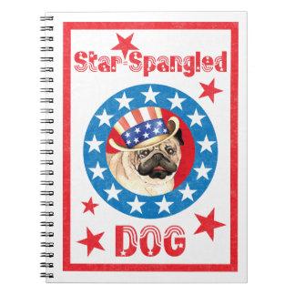 Patriottische Pug Notitieboek