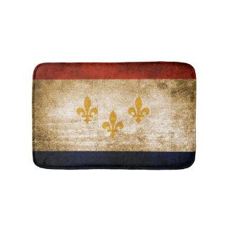 Patriottische Rustieke Vlag van New Orleans Badmat
