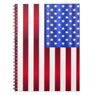 Patriottische Sterren & Strepen Notitieboek