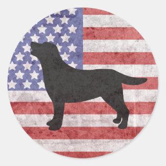 Patriottische Sticker van de Vlag van Labrador