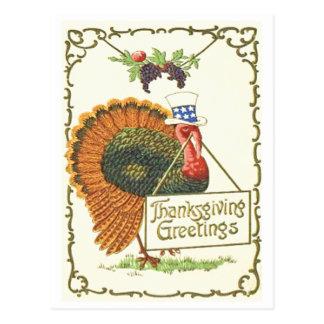 Patriottische Thanksgiving Briefkaart