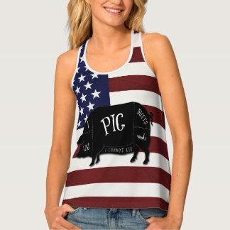 Patriottische Vlag houd ik van de Uiteinden van Tanktop