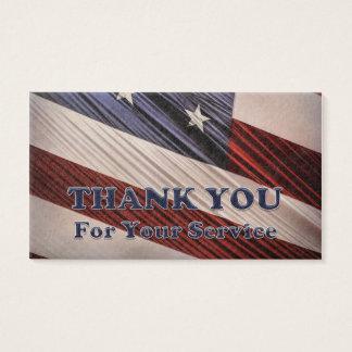 Patriottische Vlag van de Veteranen van de V.S. de Visitekaartjes