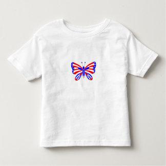 Patriottische Vlinder Kinder Shirts