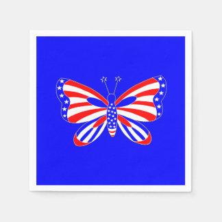 Patriottische Vlinder Papieren Servet